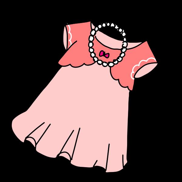 女の子のパーティ服のイラスト かわいいフリー素材が無料のイラストレイン