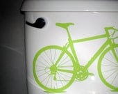 Free Shipping - bike - vinyl graphic, apple green