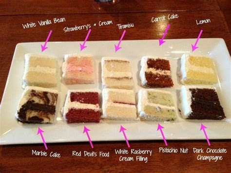 Wedding Cake Tasting Top 10 Flavors! I could totally for a
