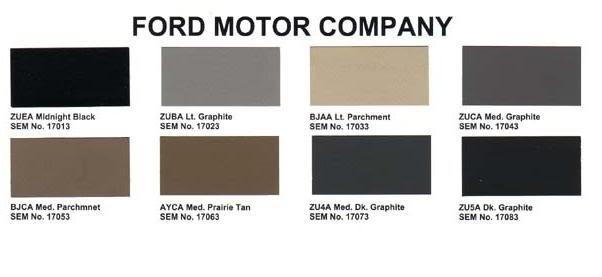 ford interior color code chart | Psoriasisguru.com