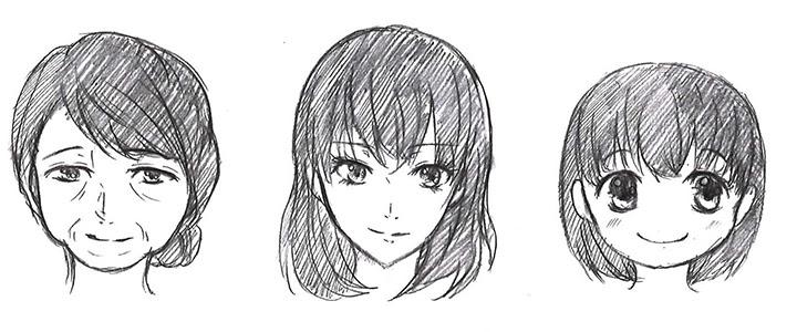 顔の描き方 発展目の高さと顔の輪郭 デジタルイラスト漫画描き方大全