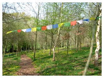 Prayer Path at Lam Rim Buddhist Centre Wales