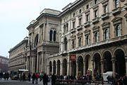 Galleria Vittorio Emanuele II, centered in its palazzo-like façade