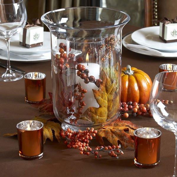 décoration d'automne centre de table