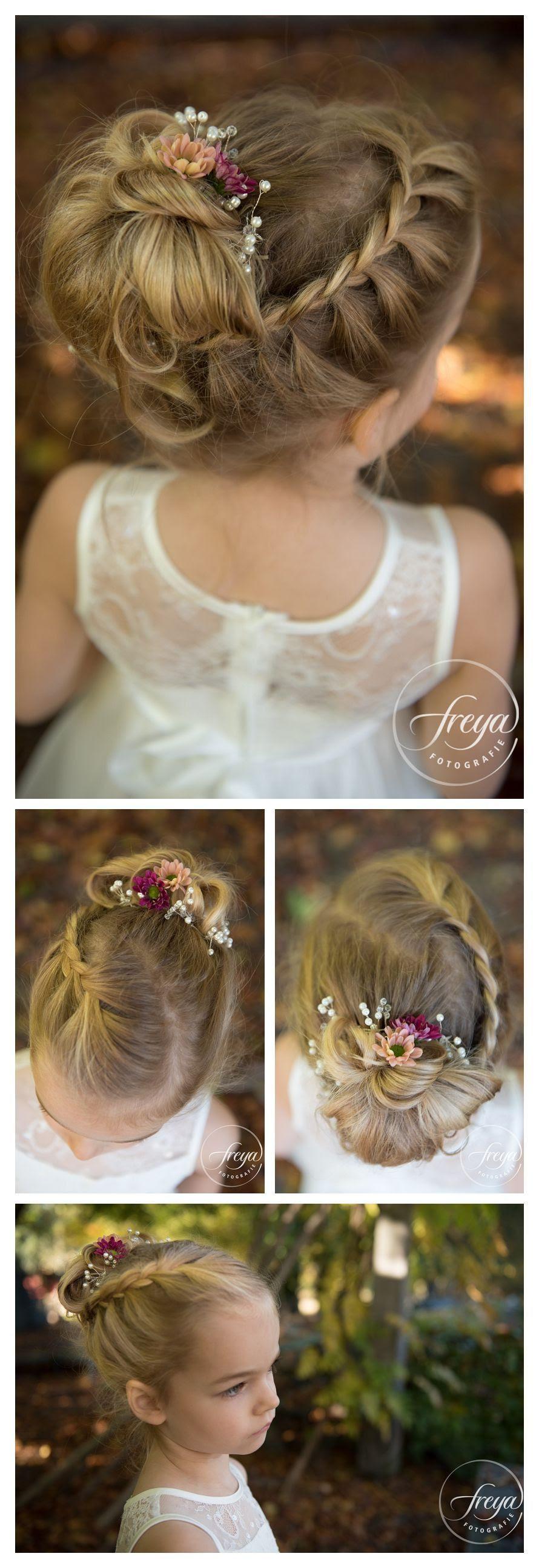 Kommunion Frisur Mit Echten Blumen - Frisur