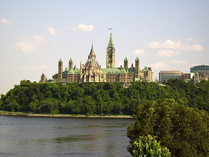 Canadian parliament from the Musée Canadienne ...