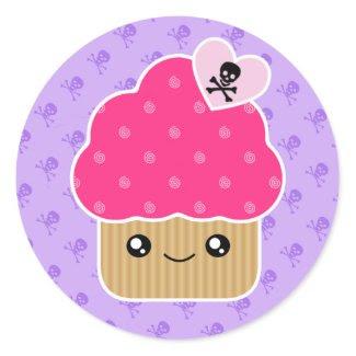 Evil Cute Kawaii Cupcake Of Death Stickers sticker