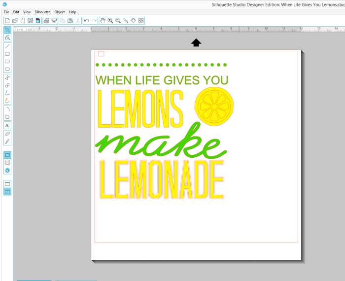 Fun Summer Sign - When Life Gives You Lemons, Make Lemonade!! Its a perfect Silhouette Project! | The Love Nerds Contributor