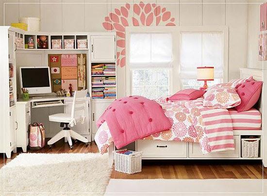 غرفة نوم أنيقة بألوان مبهجة زادتها المفروشات جمالاً -اليوم السابع -11 -2015