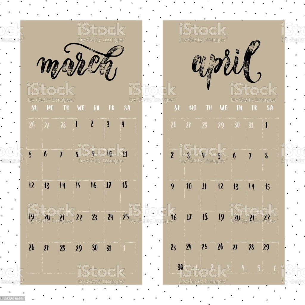 Calendar 2017 March And April   2017 calendars