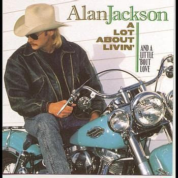 Alan Jackson on a Harley from his album cover