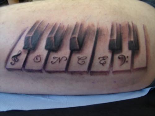 piano tattoo. Tagged: piano, tattoo, .