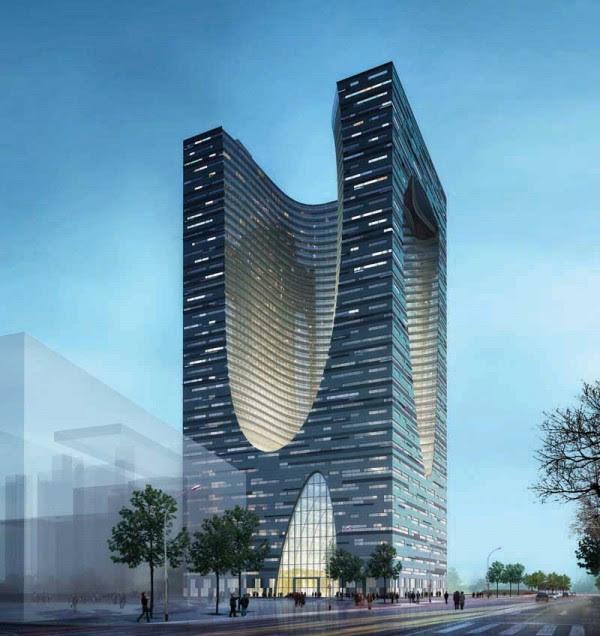 shidai tower harbin as240409 600x636 14 Futuristic Building Designs in China