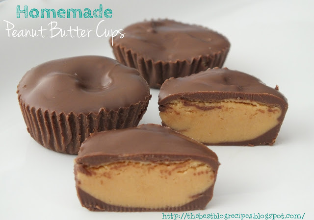 Homemade Peanut Butter Cups from {The Best Blog Recipes}