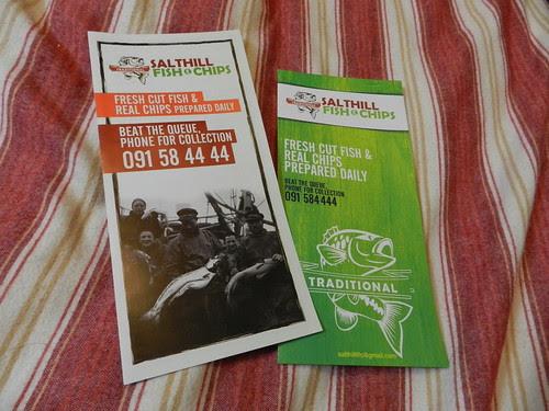Salthill Fish & Chips brochures - brilliant chipper!
