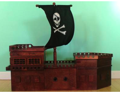 pirate ship toy box
