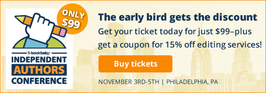 The early bird gets the discount: 15% book editing for all early-bird registrants. Available until June 15th.