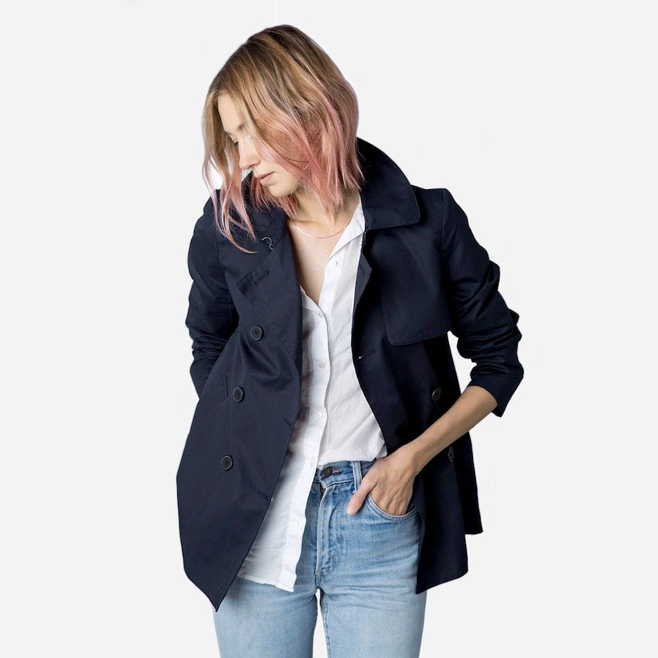 Le Fashion Blog Everlane The Swing Trench Navy Blue Jacket White Button Down Shirt High Waisted Jeans photo Le-Fashion-Blog-Everlane-The-Swing-Trench-Navy-Blue-Jacket-White-Button-Down-Shirt-High-Waisted-Jeans.jpg