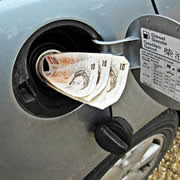 saving petrol and saving money