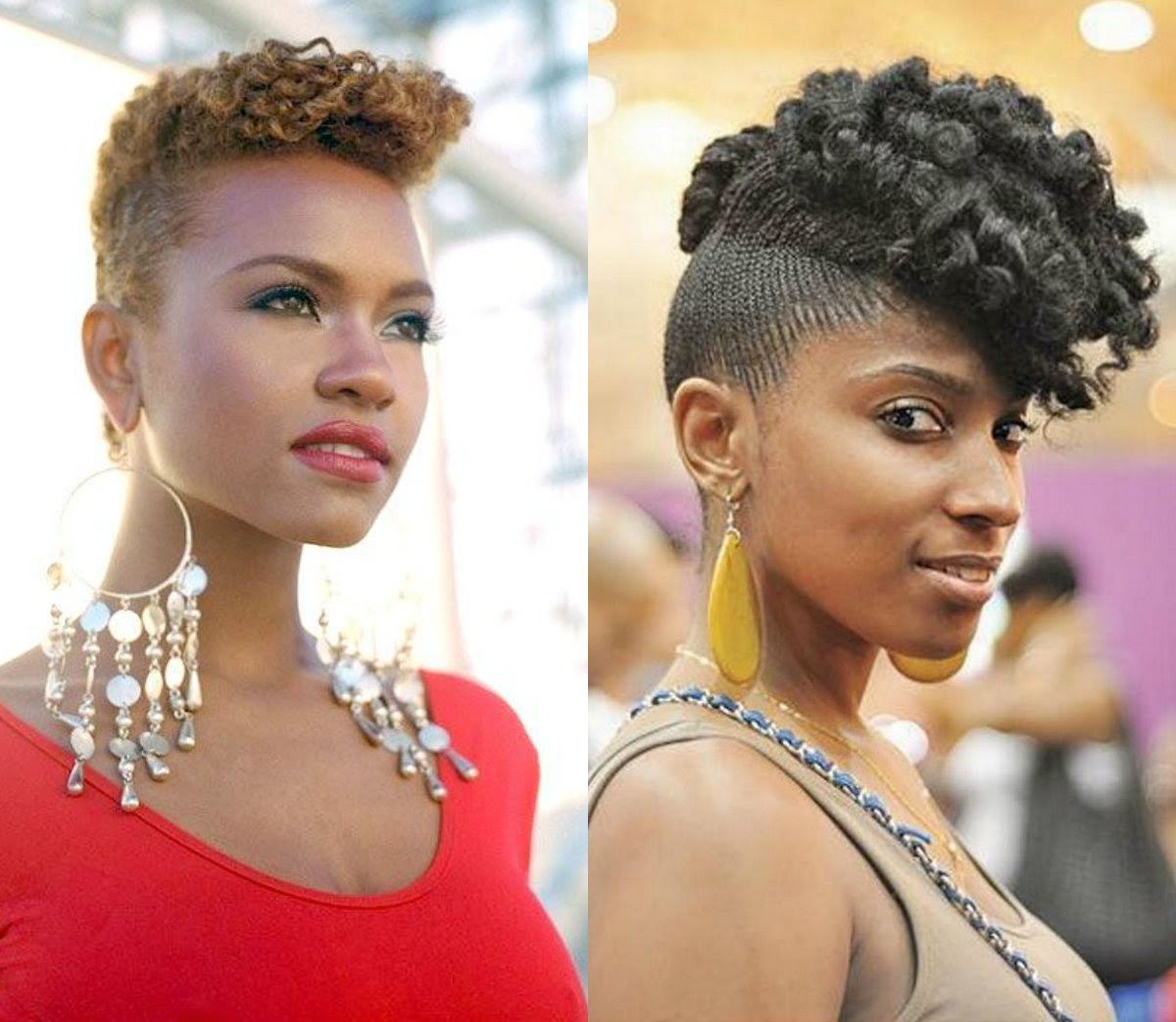 Black Curly Mohawk Hairstyle   which haircut suits my face