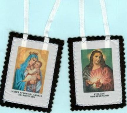 Scapolare della Madonna del Carmine - Escapulario de la Virgen del Carmen