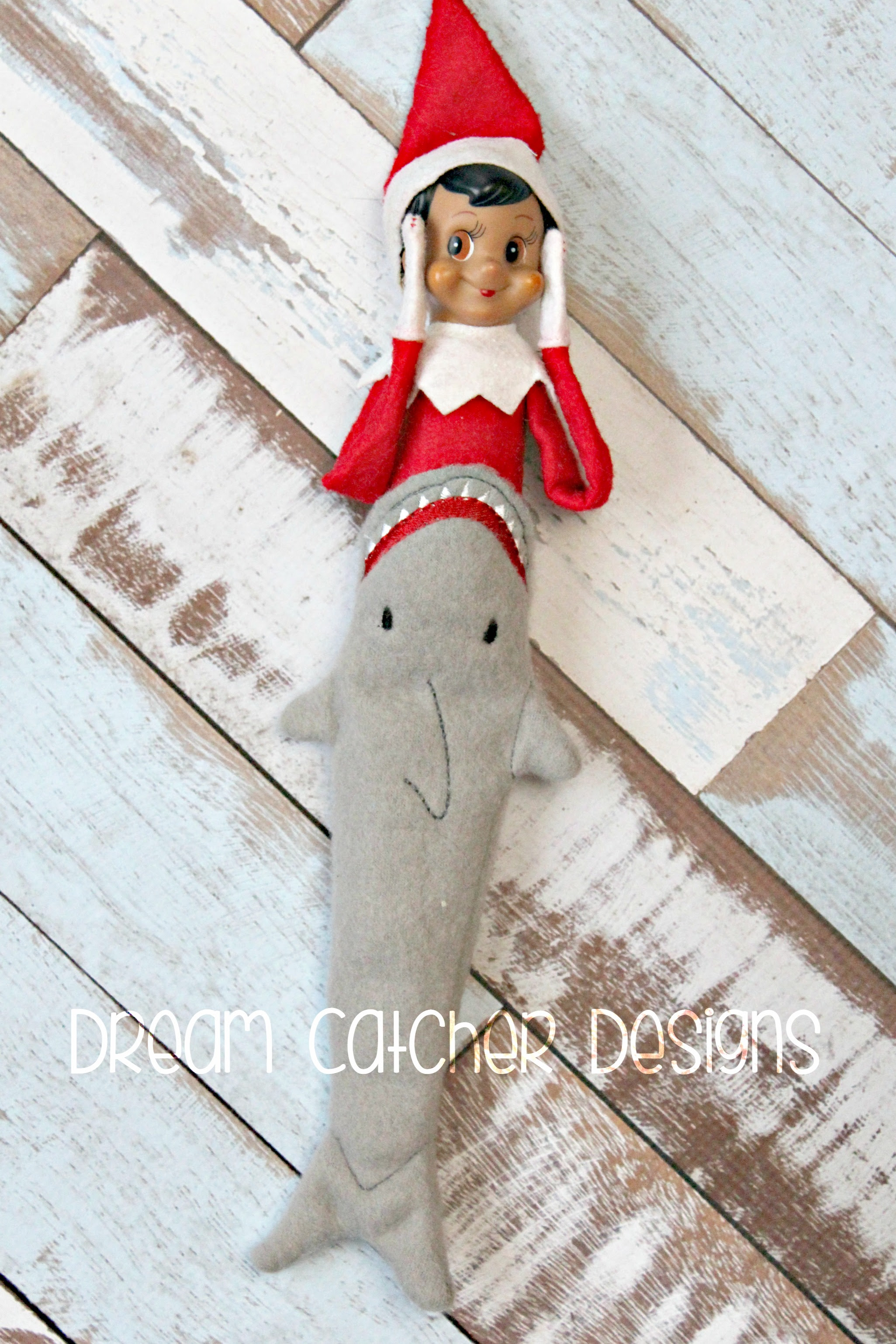 In The Hoop Shark Tail Elfdoll Christmas Embroidery Design The