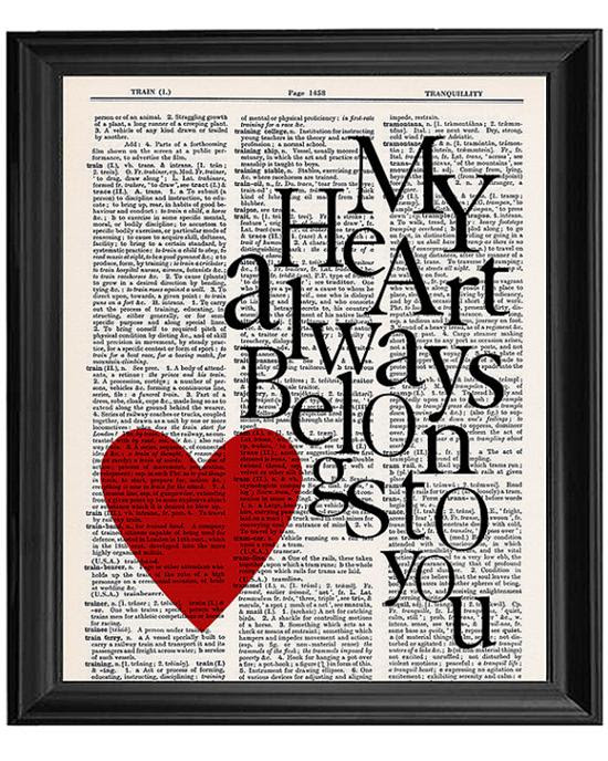 Decorate Your Home For Valentines Day With Love Quotes In Frames