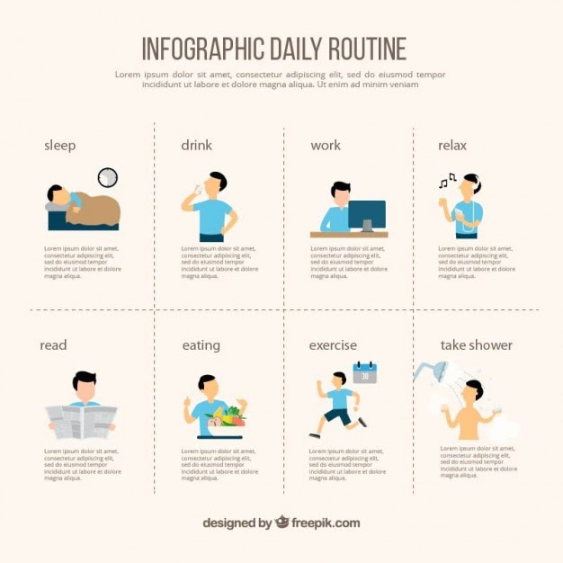 Daily Schedule Infographic