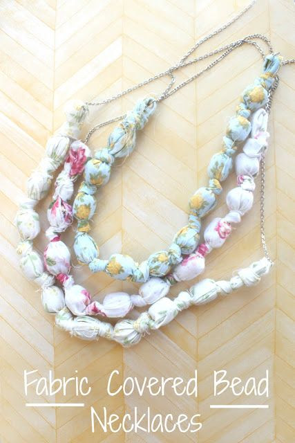 eat.sleep.MAKE.: CRAFT: Fabric Covered Bead Necklaces