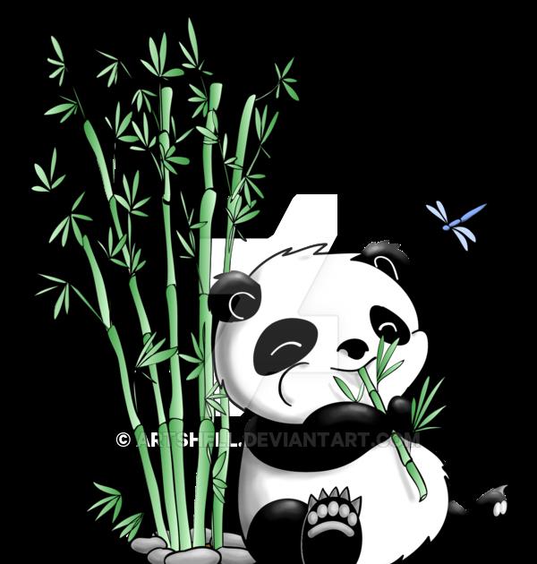 Panda Eating Bamboo Drawing Easy Drawing Art Ideas