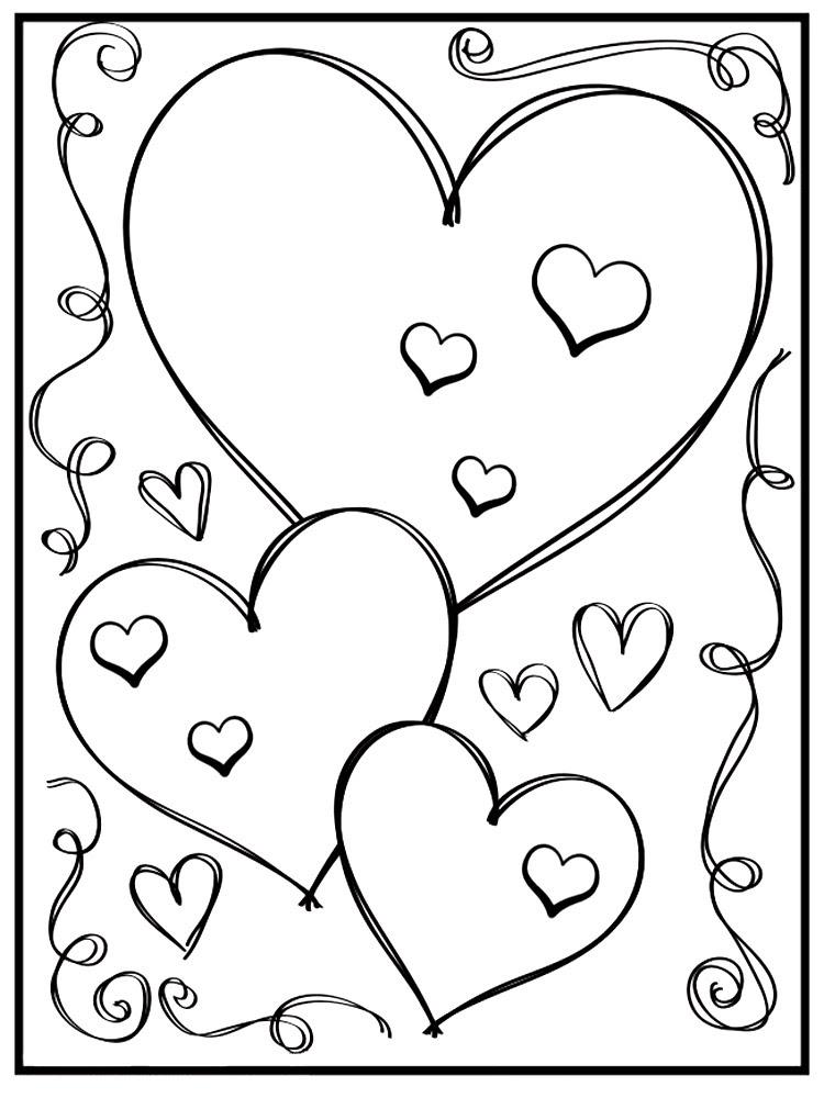 Gratuitos Dibujos Para Colorear Día De San Valentín Descargar E