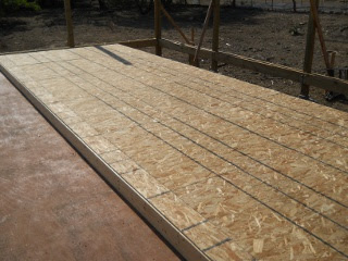 House Outer Wall Frame with OSB Siding