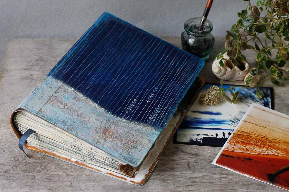 Of The Sea Hardback Indigo Photo Album Scrapbook Journal Or