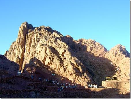 Il Monte Sinai, dove gli ebrei ricevettero i Dieci Comandamenti e la Torah