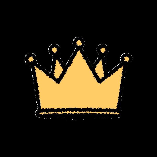手書き風でかわいい王冠の無料イラスト商用フリー オイデ43