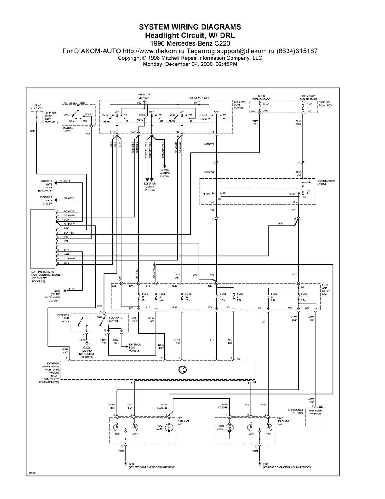 Mercede C320 Fuse Box Diagram