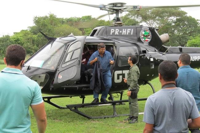 Flávio Dino só quer andar no helicóptero do GTA