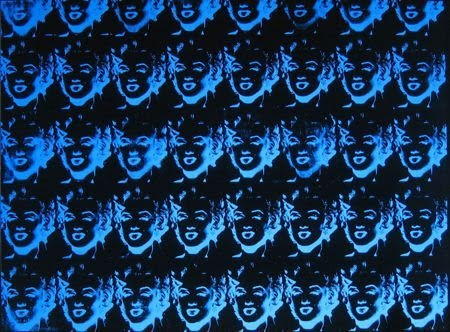Andy Warhol Forty Blue Marilyns (Reversal Series)