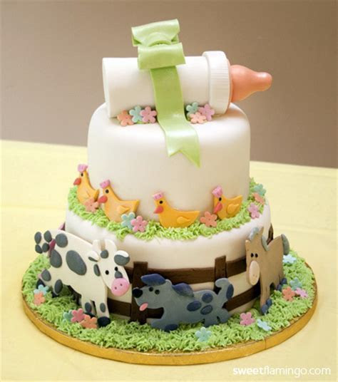 Baby Farm Animals   Sweet Flamingo Cake Co