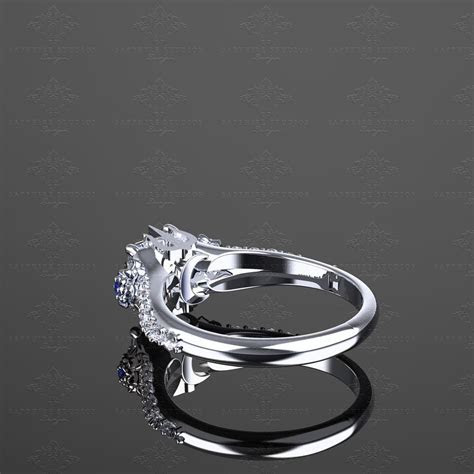 'Eternal' Princess Cut Sterling Silver Final Fantasy Ring