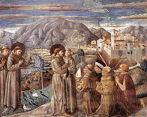 Pregação de São Francisco aos animais e aos homens