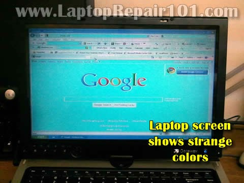 Laptop Screens Show Strange Colors What Could Be Wrong