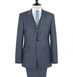 Reiss Butcher Three Piece Single Button Suit Light Blue