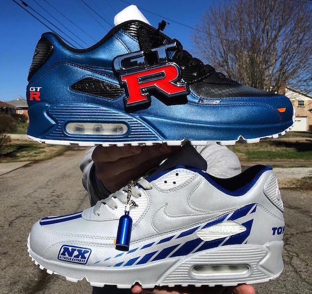 Paul Walker Tribute Custom Nike Air Max 90s By Kenneth Cole Customs