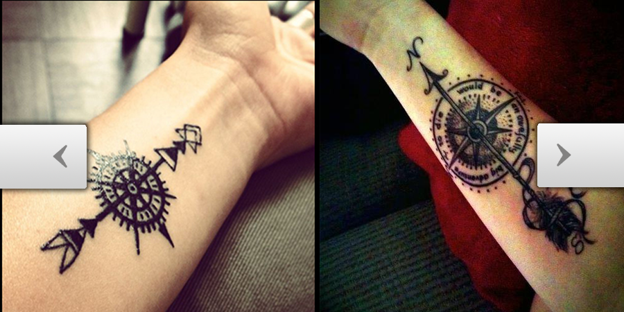 Tattooscom Arrow Through Compass Tattoo Ideas
