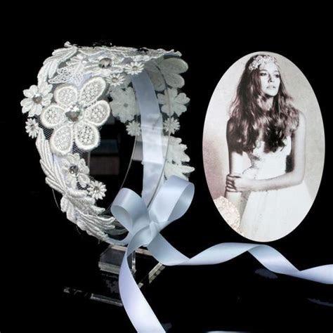 Flower Lace Headpiece Luxury Wedding Bridal Hair Band