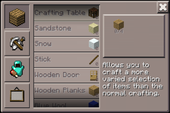 Crafting Table On A Stick Sweet Home