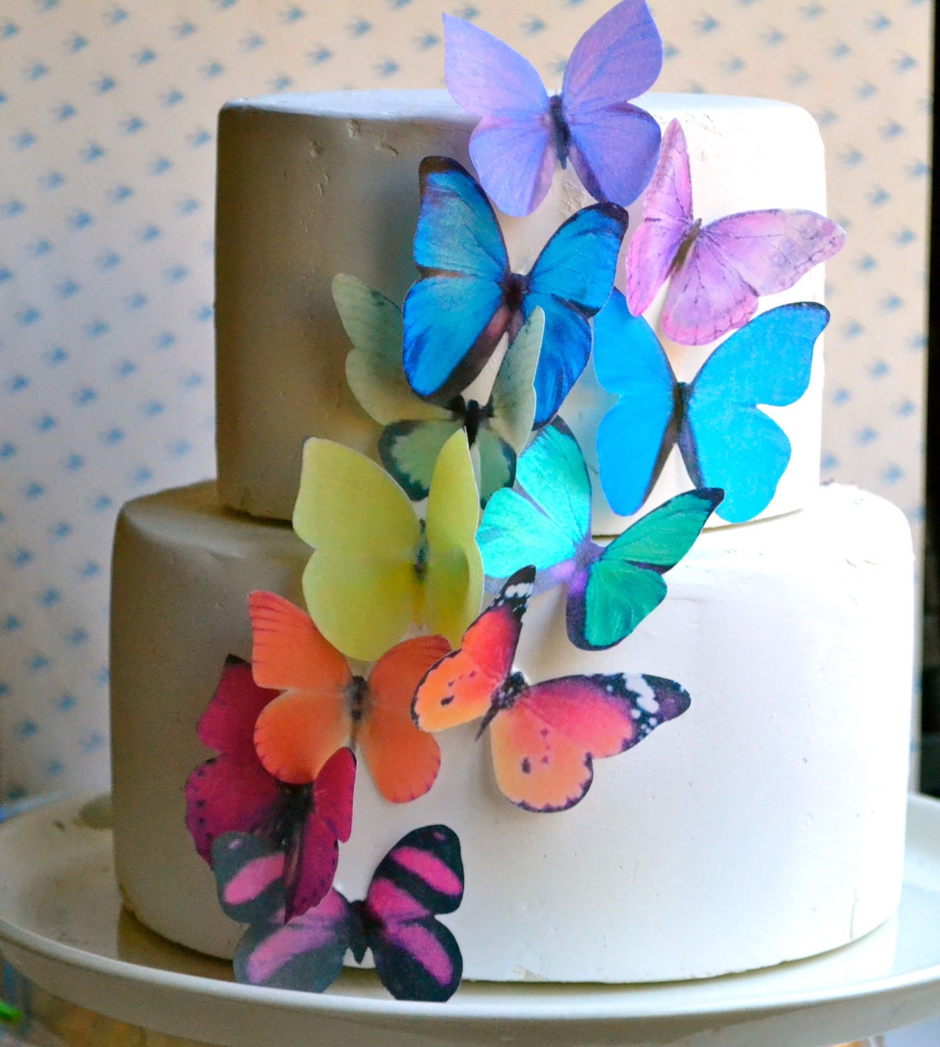 image edible paper wafer butterflies butterfly cake decoration sugar robot