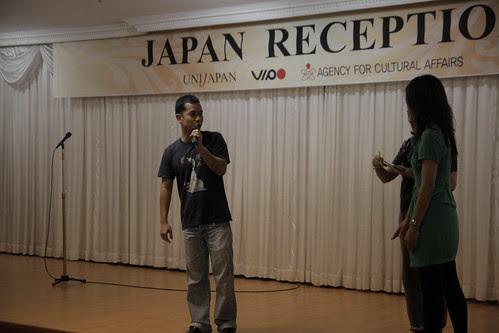 Ming Jin, talking at the Japan Reception