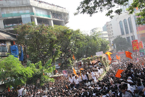 Shree Balasahebs Cortege Reaches Sena Bhavan Dadar by firoze shakir photographerno1